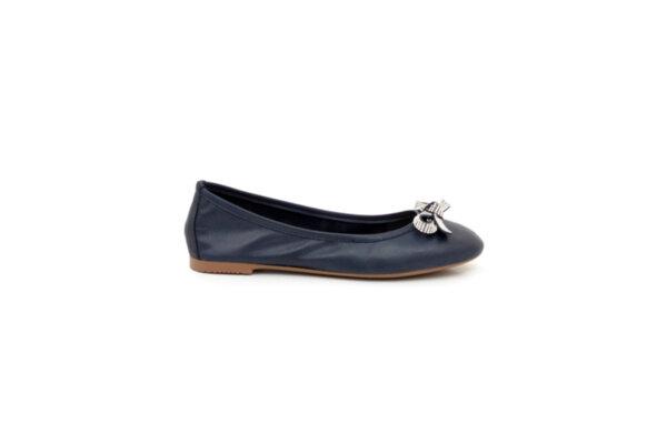 Ежедневни сини дамски обувки от естествена кожа 32.6034