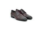 Елегантни мъжки обувки от естествена кожа в цвят бордо 18.3556