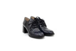 Елегантни сини дамски обувки от естествен лак на висок ток 29.1100