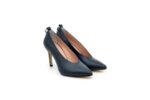 Елегантни сини дамски обувки от естествена кожа на висок ток 02.2082