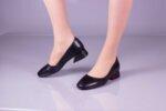 Ежедневни черни дамски обувки от естествена кожа 29.11002