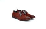 Ежедневни мъжки обувки от естествен велур в цвят бордо 11.9089
