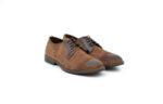 Ежедневни кафяви мъжки обувки от естествен велур 11.9089