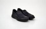 Ежедневни сини мъжки обувки от естествена кожа 18.22103