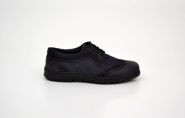 Ежедневни сини мъжки обувки от естествен набук 18.22105