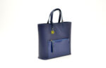 Дамска синя чанта от естествена кожа 16.221