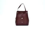 Дамска чанта от естествена кожа в цвят бордо 16.222