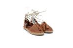 Ежедневни кафяви дамски обувки от естествена кожа 56.601