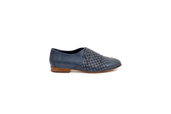Ежедневни сини дамски обувки от естествена кожа 06.20444