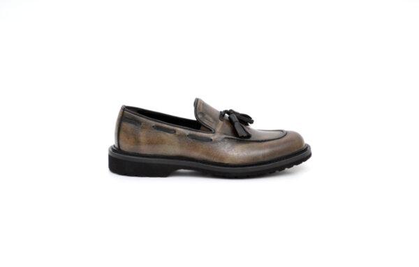 Ежедневни кафяви мъжки обувки от естествена кожа 11.9168