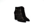 Елегантни черни дамски боти от естествен велур на висок ток 46.5603