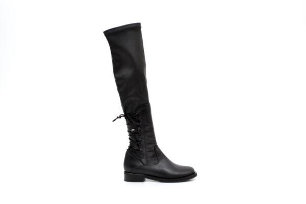 Ежедневни черни дамски ботуши от еко кожа 01.3055