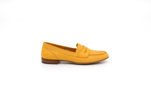 Ежедневни жълти дамки обувки от естествена кожа 32.2008