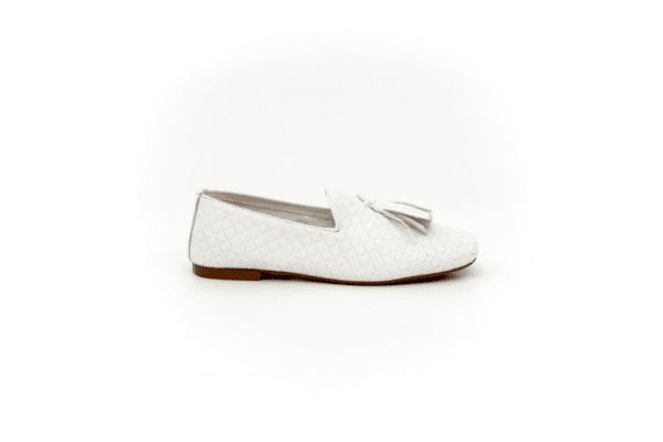 Ежедневни бели дамски обувки от естествена кожа 32.4083
