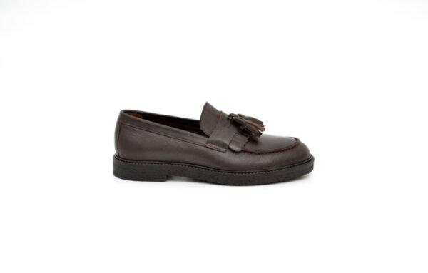 Ежедневни кафяви мъжки обувки от естествена кожа 11.8267
