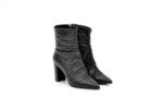 Елегантни черни дамски боти от естествена кожа на висок ток 01.2954