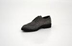 Ежедневни сиви мъжки обувки от естествен велур 11.7208