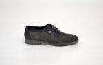 Ежедневни сиви мъжки обувки от естествена кожа 11.8343