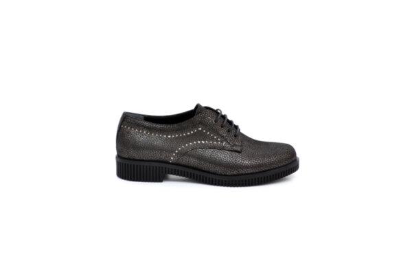 Ежедневни черни дамски обувки от естествена кожа 06.6207