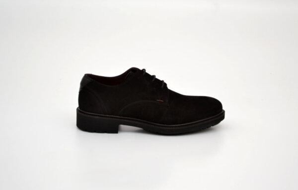 Ежедневни черни мъжки обувки от естествен набук 14.61312