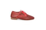 Ежедневни червени дамски обувки от естествена кожа 04.061
