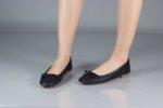 Ежедневни черни дамски обувки от естествена кожа 32.4066
