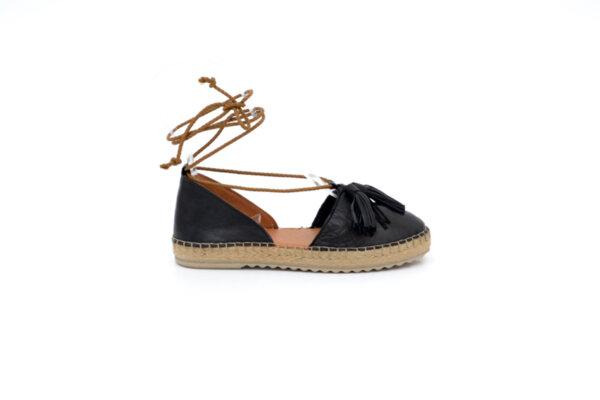 Ежедневни черни дамски обувки от естествена кожа 32.0516