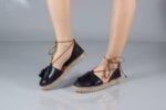 Ежедневни червени дамски обувки от естествена кожа 32.0516
