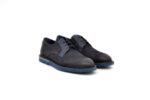 Ежедневни сини мъжки обувки от естествен набук 11.9103