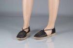 Ежедневни черни дамски обувки от естествена кожа 32.0013
