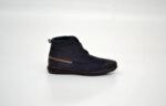Ежедневни сини мъжки обувки от естествен набук 11.8395