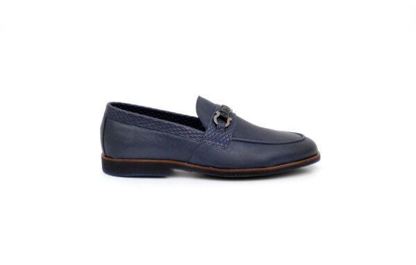 Ежедневни сини мъжки обувки от естествена кожа 11.8616