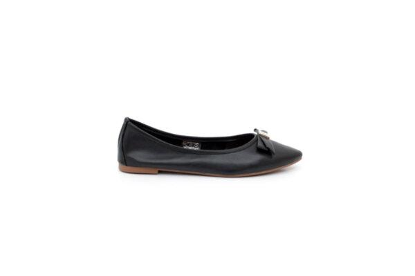 Ежедневни черни дамски обувки от естествена кожа 32.4011
