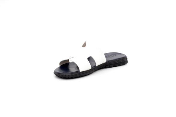 Мъжки бели чехли от естествена кожа 13.1930