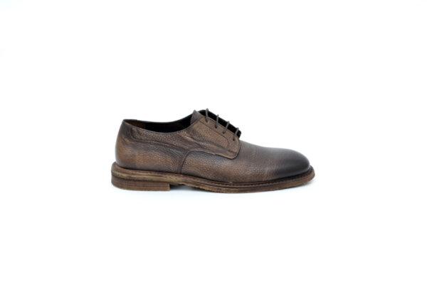 Ежедневни кафяви мъжки обувки от естествена кожа 11.9114