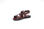 Мъжки сандали от естествена кожа в цвят бордо 13.1934