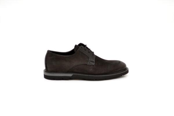 Ежедневни черни мъжки обувки от естествен набук 11.9103