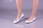 Ежедневни бели дамски обувки от естествена кожа 32.6034