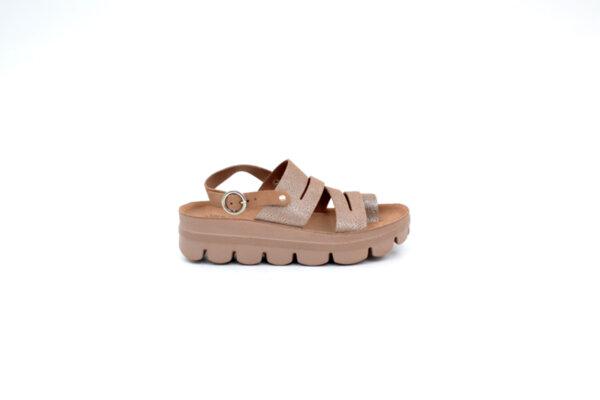 Ежедневни розови дамски сандали от естествена кожа 42.203
