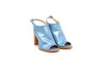 Елегантни сини дамски сандали от естествена кожа на висок ток 01.169