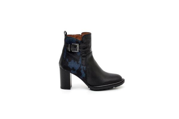 Елегантни черни дамски боти от естествена кожа на висок ток 37.99135