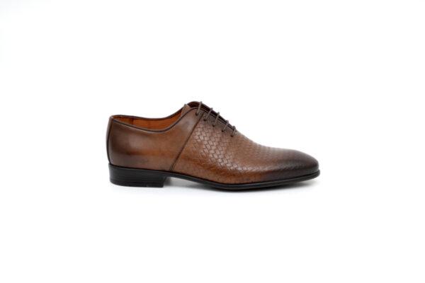 Елегантни кафяви мъжки обувки от естествена кожа 18.26407
