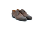 Елегантни кафяви мъжки обувки от естествена кожа 18.26402