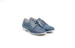 Ежедневни сини дамски обувки от естествена кожа 06.18366