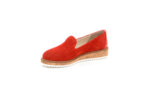 Ежедневни червени дамски обувки от естествен велур 04.113