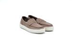 Ежедневни сиви мъжки обувки от естествена кожа 55.10106