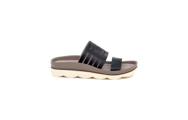 Дамски черни чехли от естествена кожа 06.18400