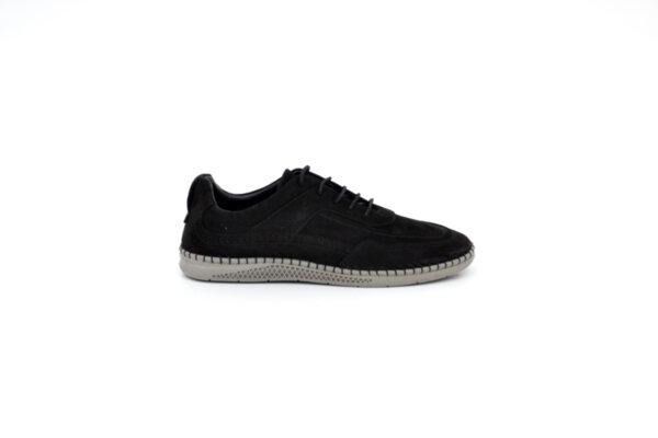 Ежедневни черни мъжки обувки от естествен набук 55.10101