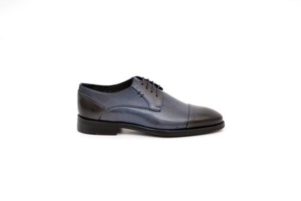 Елегантни сини мъжки обувки от естествена кожа 18.233