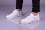 Ежедневни бели мъжки обувки от естествена кожа 55.2023